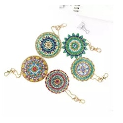 Nyckelringar Diamond Painting Mandala 5-Pack
