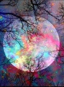Diamanttavla Color Moon 40x50