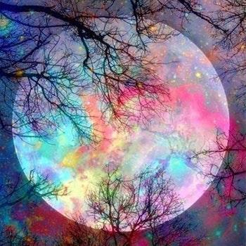 Diamanttavla Color Moon 50x60