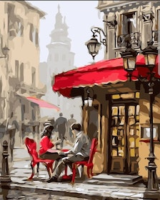 Paint By Numbers Cafe' Time 40x50