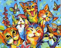 Paint By Numbers Funny Cats 40x50
