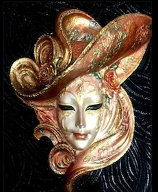 Diamanttavla Golden Hat Mask 40x50