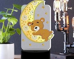 Ledlampa Nattlampa Nalle På Måne