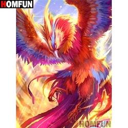 Diamanttavla Cartoon Phoenix 40x50