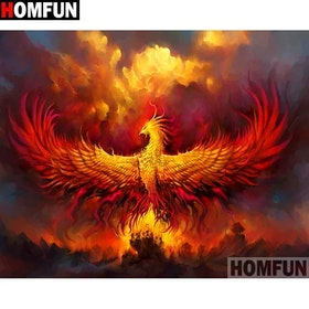 Flaming Phoenix 50x70
