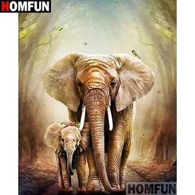 Diamanttavla Forest Elephants 40x505