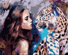 Paint By Numbers Leopard Beauty 40x50