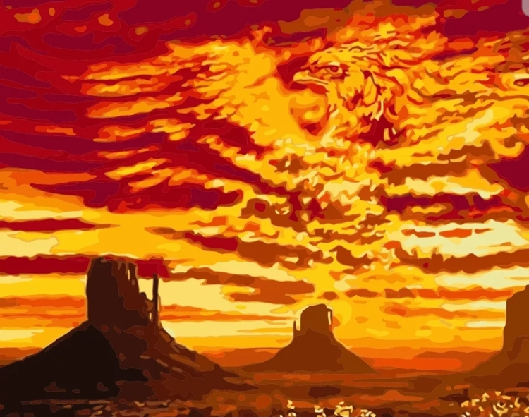 Paint By Numbers  Sunset Phoenix 40x50