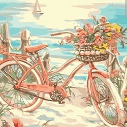 Paint By Numbers Cykel Vid Havet 40x50