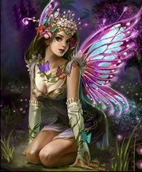 Diamanttavla Flower Fairy 40x50