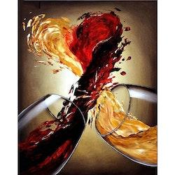 Diamanttavla Wine heart 30x40
