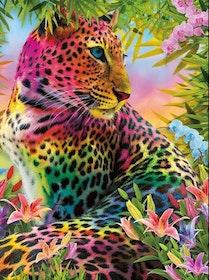 Diamanttavla Colorful Leopard 40x50