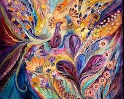 SNART I BUTIK - Diamanttavla Flower Peacock 50x50