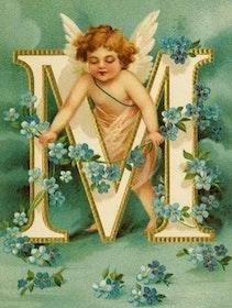 SNART I BUTIK - Diamanttavla Angel Letter M 40x50