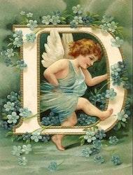 SNART I BUTIK - Diamanttavla Angel Letter D