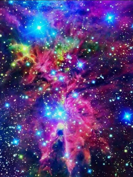 Diamanttavla Color Galaxy 40x50