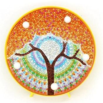 Diamond Painting Ledlampa Träd