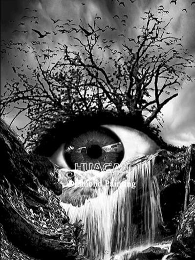 Diamanttavla (R) Eye Waterfall 40x50