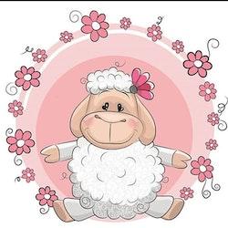 Diamanttavla Cute Sheep 25x25