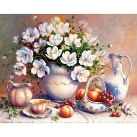 SNART I BUTIK - Diamanttavla Fruits And Flowers 40x50