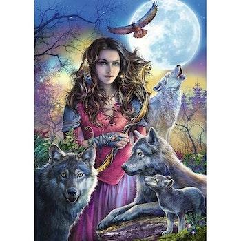 Diamanttavla Wolfwoman 50x70