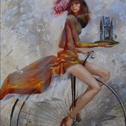 Diamanttavla  (R) High Wheel Bicycle 40x50