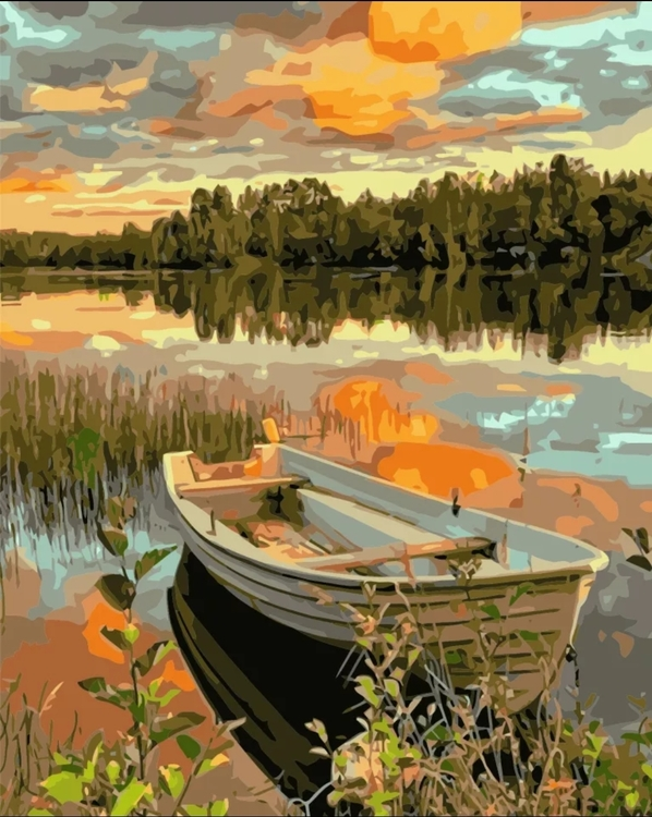 Paint By Numbers Eka I Solnedgång 40x50