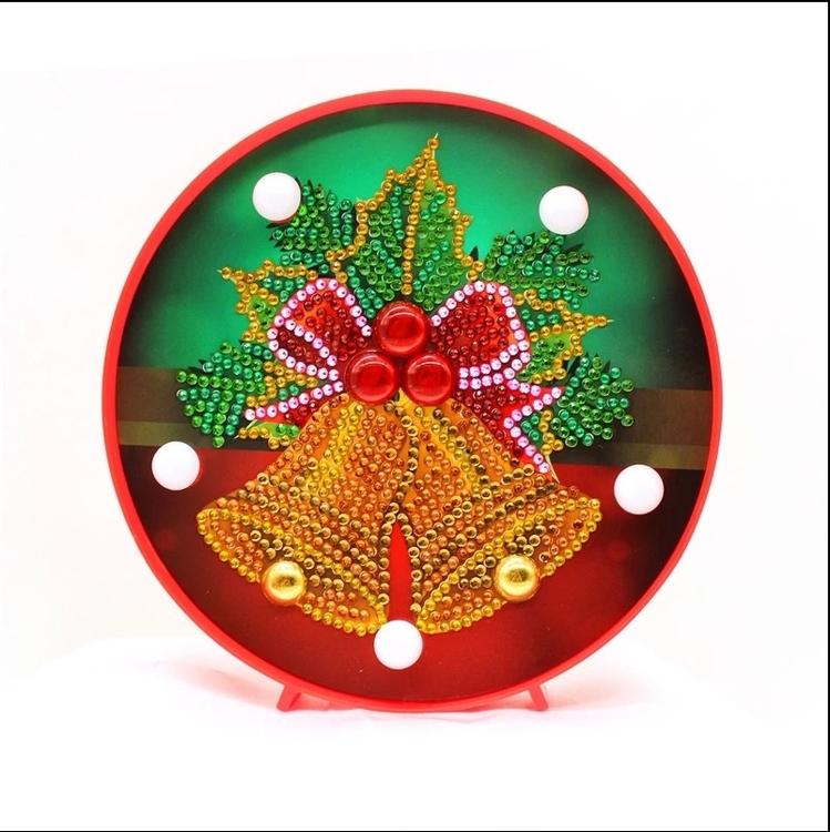 Diamond Painting Ledlampa Julklockor