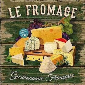 Diamanttavla Le Fromage 50x50