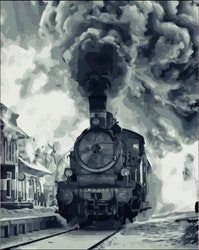 Paint By Numbers Old Train 40x50
