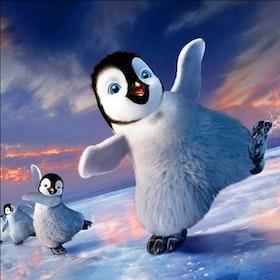 Diamanttavla (R) Dancing Penguin 30x30