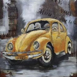 Diamanttavla Yellow Car 40x40