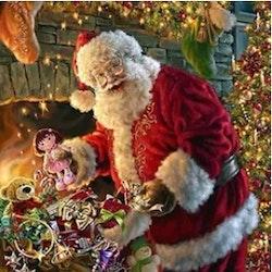 Diamanttavla Santa And Toys 40x50