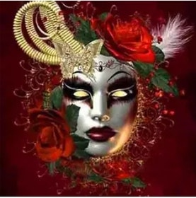 Diamanttavla (R) Mask Red 40x50