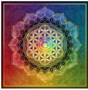 Diamanttavla Mandala Chakra 50x50