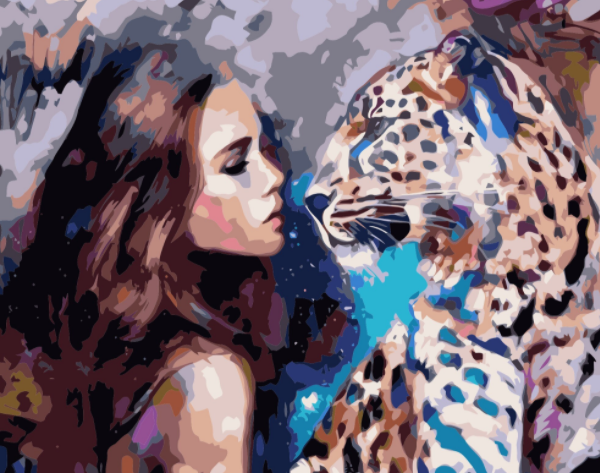 Paint By Numbers Beauty And Leopard 40x50