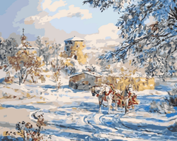 Paint By Numbers Horse Winter Landscape 40x50