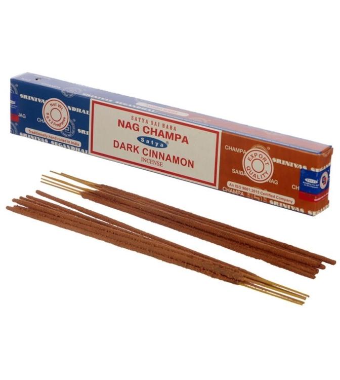 Rökelse Satya Nag Champa & Dark Cinnamon