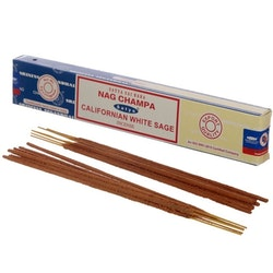 Rökelse Satya Nag Champa & Californian White Sage