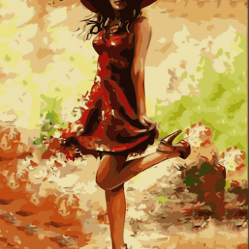 Paint By Numbers Chick Beauty In Red 40x50