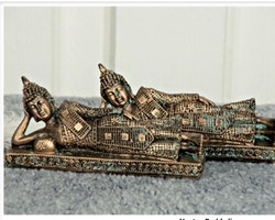 Liggande Buddha Polystone 18x8x4
