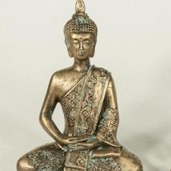 Sittande Buddha 10x13x6 Polystone