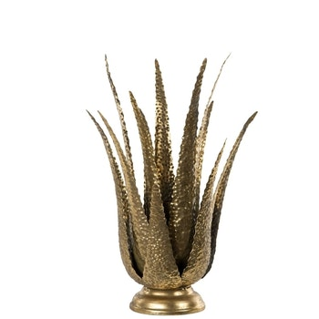 Ljusstake Aloe Vera 21x40 cm - Leveranstid 1-3 Dagar