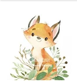 Diamanttavla Pretty Fox 30x40