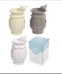Aromalampa Keramik Drickande Fågel Grå