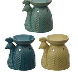 Aromalampa Eden Keramik Påfågel Beige gul
