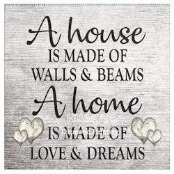 Diamanttavla A House A Home 40x40