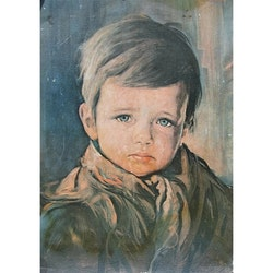 Diamanttavla Crying Boy 40x50