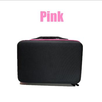 Pärlförvaring Väska Rosa Med 60 Burkar