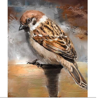 Diamanttavla Sparrow Bird 30x40